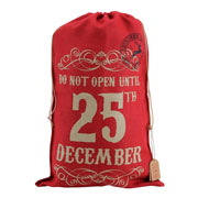 'Do Not Open Until 25th December' Hessian Sack