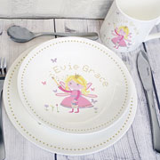 Personalised Garden Fairy China Breakfast Set