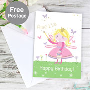 Personalised Garden Fairy Card - Free Delivery