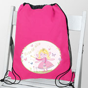 Garden Fairy Personalised Swim Bag PE Bag Kit Bag