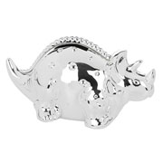 Deluxe Silver Plated Dinosaur Money Box