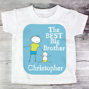 The Best Big Brother Personalised T-Shirt