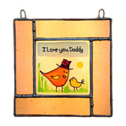 Personalised Daddy and Baby Sun Catcher