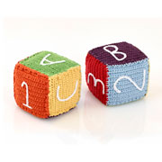 Fair Trade Rainbow Crochet Toy Block by Pebble