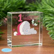 Tiny Tatty Teddy My 1st Christmas Personalised Crystal Token