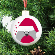 Personalised Robin Tree Decoration