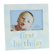 First Birthday Blue Photo Frame