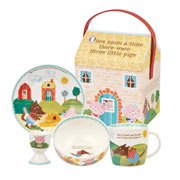 Three Little Pigs 4 Piece Breakfast Set