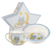 China Twinkle Twinkle Blue Porringer and Mug Set