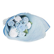 Baby Welcome Clothing Bouquet - Blue