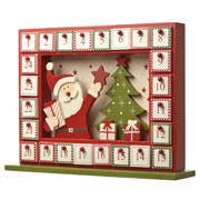 Wooden Santa Advent Calendar Frame