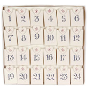 Wooden Advent Pegs Calendar by East of India