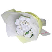 Baby Welcome Clothing Bouquet - White