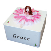 Handmade Wooden Personalised Trinket Box - Large