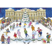 Christmas Ice Skating Advent Calendar by Alison Gardiner