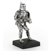 Star Wars Pewter Boba Fett Figurine by Royal Selangor