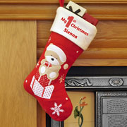 My 1st Christmas Personalised Teddy Stocking