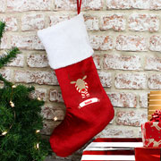 Personalised Retro Reindeer Christmas Stocking