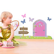 Personalised Garden Fairy Door Wall Art