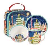 O Christmas Tree 3-Piece China Breakfast Set