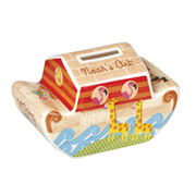 Noah's Ark Shaped China Money Box