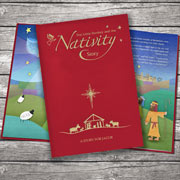 Personalised Nativity Story Embossed Classic Hardback