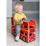 Kiddimoto Ride-On Wooden London Bus