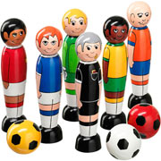 Lanka Kade Fair Trade Wooden Football Skittles