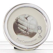 First Communion Circle Photo Frame