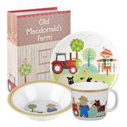 Old MacDonald Melamine Breakfast Set