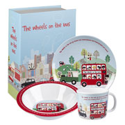 Wheels On The Bus Melamine Breakfast Set