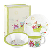 Owl and The Pussycat Melamine Breakfast Set