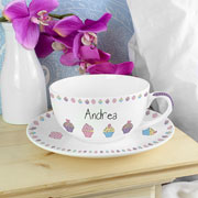 Personalised Cupcake Teacup & Saucer