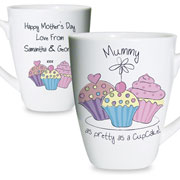 Personalised Cupcake Latte Mug Grandma Mummy etc