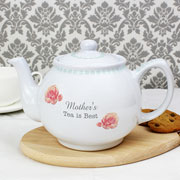 Personalised Vintage Rose China Teapot Any Message
