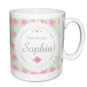 Personalised Vintage Rose Mug