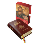 Burgundy Leather New Catholic Bible Presentation Edition
