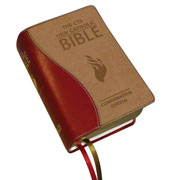 Burgundy Leather New Catholic Bible - Confirmation Edition