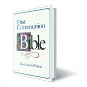 Large First Holy Communion Bible Blue