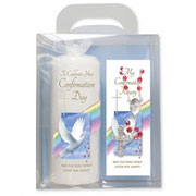 Confirmation Candle and Rosary Gift Set
