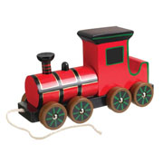 Victorian Steam Train Wooden Pull-Along Toy