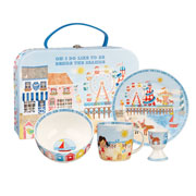 Beside the Seaside 4 Piece China Breakfast Set