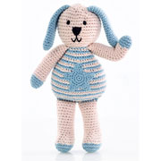 Pebble Organic Fair Trade Knitted Blue Bunny with Star