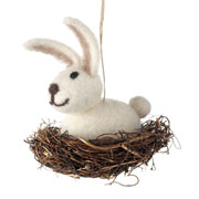 Bunny in a Nest Easter Decoration