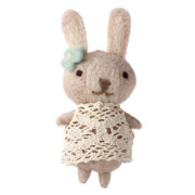 Girl Bunny Doll In Crochet Dress