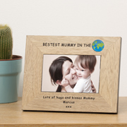 Personalised Bestest Mummy in the World Frame 6x4 Inch