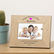 Happy Mother's Day Mummy Oak Frame 6x4