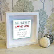 Personalised Mummy Metal Artwork in Box Frame