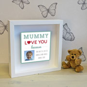 Personalised Mummy Metal Artwork in Box Frame Photo Version