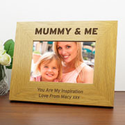Engraved Mummy & Me 6x4 Inch Wooden Photo Frame